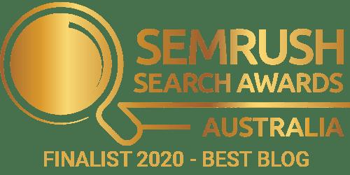 SEMrush Search Awards Australia - Finalist 2020 - Best Blog